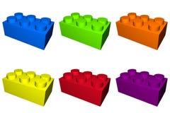 建立作用的块 库存例证