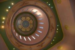 建立圆形建筑的内部,萨利姆,俄勒冈的国会大厦 免版税库存照片