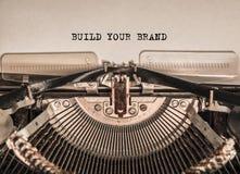 建立您的品牌打印了词 库存图片