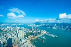 建立香港的外部都市风景美好的建筑学 库存图片