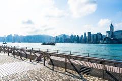 建立香港的外部都市风景美好的建筑学 免版税库存照片