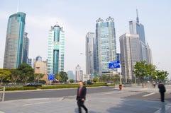 建筑上海业务量 免版税库存图片