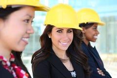 建筑不同的小组妇女 免版税库存照片