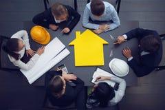 建筑业会议 库存照片