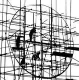 建筑剪影 库存照片