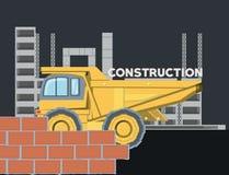 建筑卡车设计 库存例证