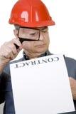 建筑合同工作者 免版税库存照片