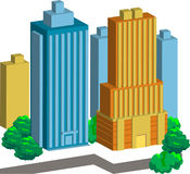 建筑向量 库存图片