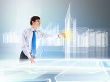 建筑和创新技术 免版税库存照片