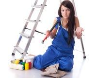 建筑女性工作者 库存图片
