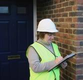 建筑女性工作者 免版税库存图片