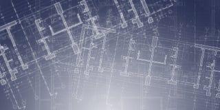 建筑学剪影和图画  免版税库存图片