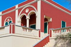 建筑学和圣诞老人Cesarea自然情景  免版税图库摄影