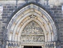 建筑学圣皮特圣徒・彼得和圣保罗,布拉格细节大教堂  免版税库存照片
