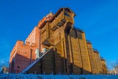 建筑学在基辅,乌克兰 库存照片
