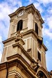 建筑学在布达佩斯的圆顶时钟 库存照片