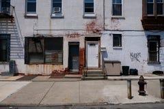 建筑学在布鲁克林,纽约 库存照片