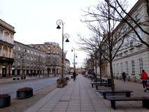 建筑学在老镇华沙 免版税库存照片