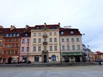 建筑学在老镇华沙 免版税库存图片