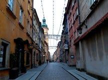 建筑学在老镇华沙 库存照片