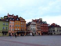 建筑学在老镇华沙 免版税图库摄影