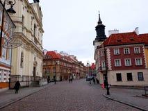 建筑学在老镇华沙 库存图片