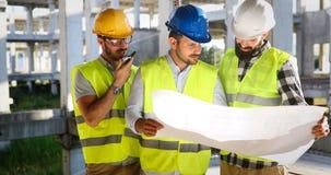 建筑学工程学在工作场所的配合会议 免版税库存图片