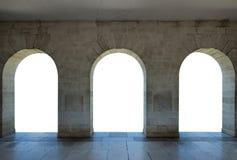 建筑学曲拱石头门 免版税库存图片