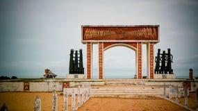 建筑学没有回归,威达,贝宁的曲拱门 库存图片