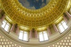 建筑学特写镜头细节,衣阿华状态国会大厦 免版税库存照片