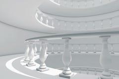 建筑学用在Fl之间的古典样式螺旋楼梯栏杆方式 向量例证