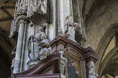 建筑学的元素是圣斯蒂芬教会在维也纳在奥地利 库存图片