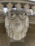 建筑学细节列支敦士登宫殿,布拉格 库存照片