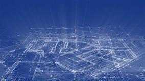 建筑学设计:图纸计划-计划的例证 向量例证