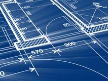 建筑学设计:图纸计划-计划的例证 库存例证