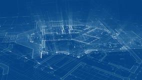 建筑学设计:图纸计划-计划的例证 皇族释放例证