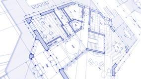 建筑学设计:图纸计划-计划mod的例证 向量例证
