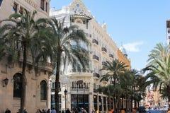 建筑学de centre de la ville,巴伦西亚,西班牙 免版税图库摄影
