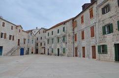 建筑学Stari毕业,赫瓦尔岛,克罗地亚 库存图片