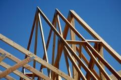 建筑家庭新的桁架 库存照片