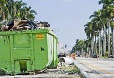 建筑容器公共站点浪费 库存照片