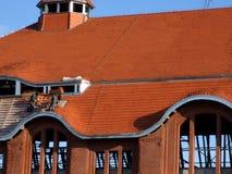 建筑屋顶工作 图库摄影