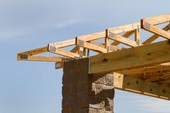 建筑屋顶桁架 免版税库存照片