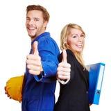 建筑工人和商业 免版税库存图片