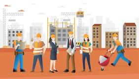 建筑工人队 向量例证