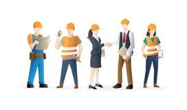 建筑工人队 库存例证