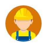 建筑工人,在背景隔绝的建造者象 工作者 图库摄影