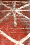建筑工作 标号和准备的胶合木地板亚麻油地毡 库存图片