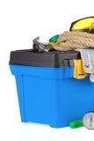 建筑工具箱用工具加工白色 图库摄影
