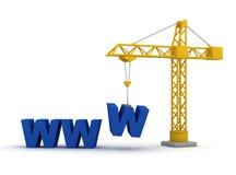 建筑工地万维网 库存照片